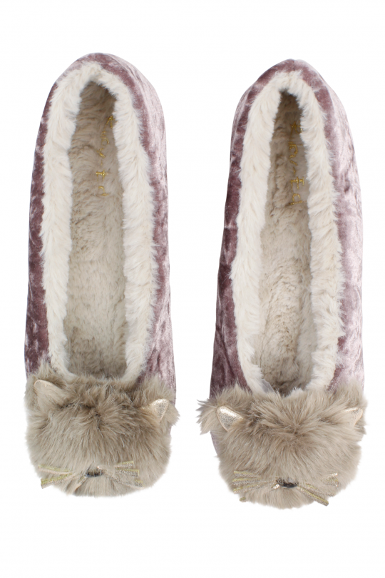 slippers, crushed velvet, aria boutique