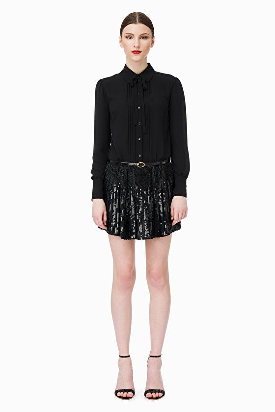 b2990db9b77b Elisabetta Franchi Sequin Black Mini Dress | Aria Boutique Naas ...