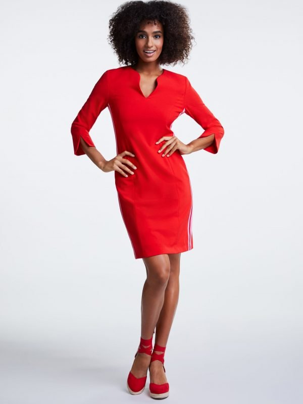 red and pink dress, dress up, oui, the brand oui, naas