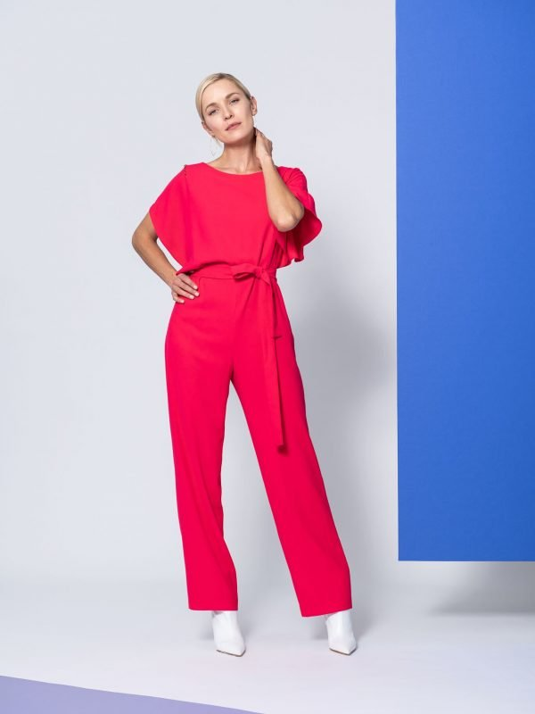jumpsuit, pink, hot pink, irish designer, irish boutique