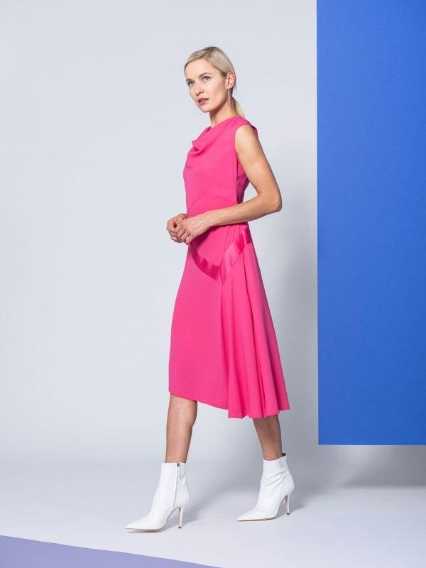 pink dress, caroline kilkenny, wedding wear