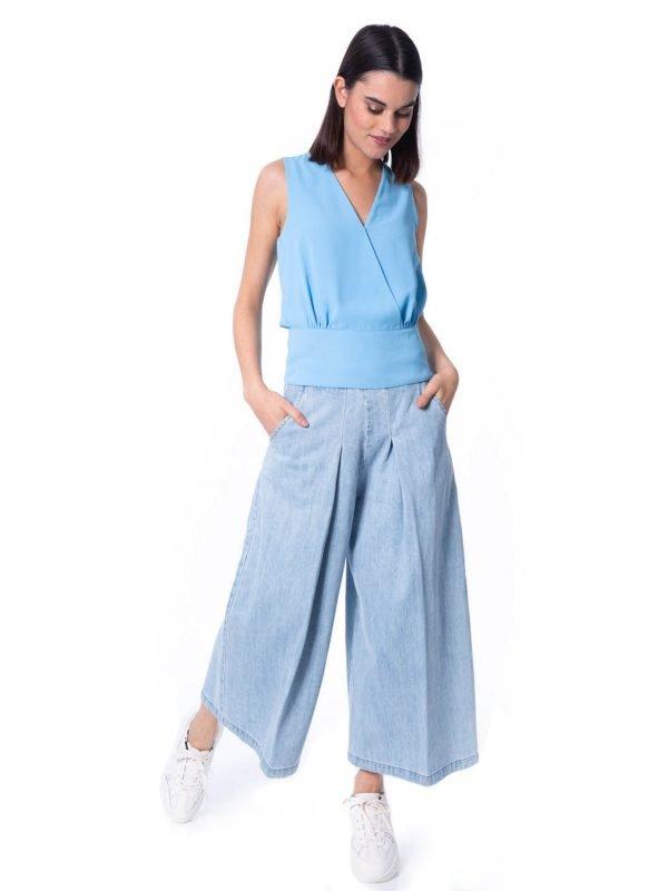 powder blue top, silvian heach, aria boutique, summer style