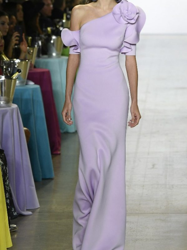 BAdgley Mischka, Lilac Dress, New York designer