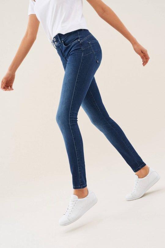 "Salsa Mid Blue Skinny Jeans Length 32"""