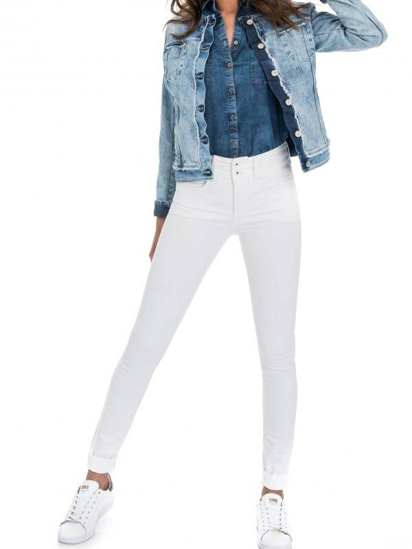 "Salsa White Skinny Jeans Length 32"""
