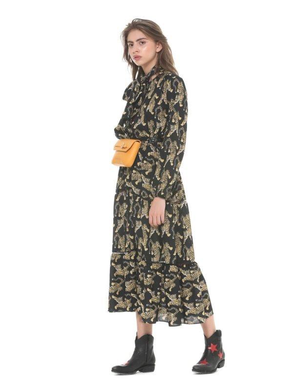 Silvian Heach Tiger Print Attares Dress