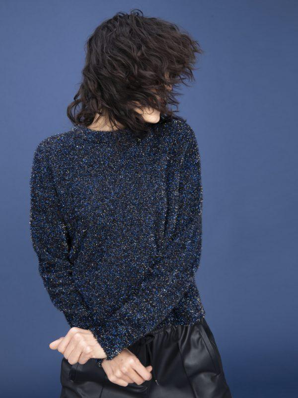i Blues Silvia Blue Glitter Jumper