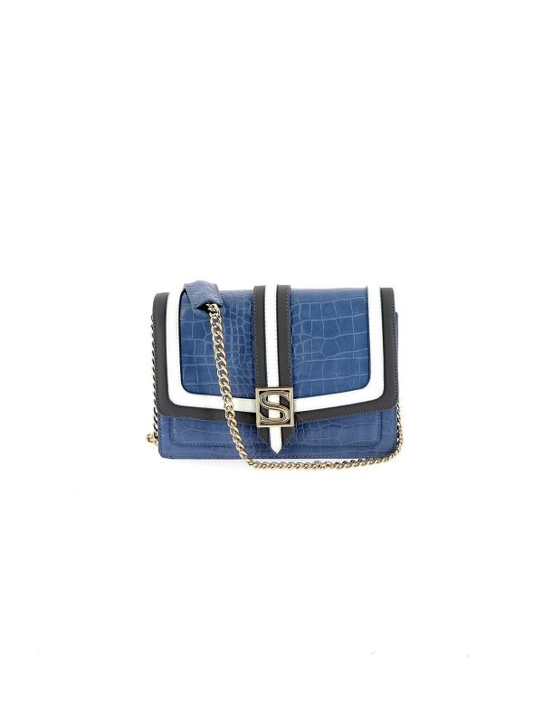 Silvian Heach Contrast Blue & White Handbag