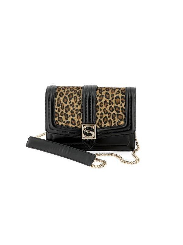 Silvian Heach Leo Leopard Print Handbag