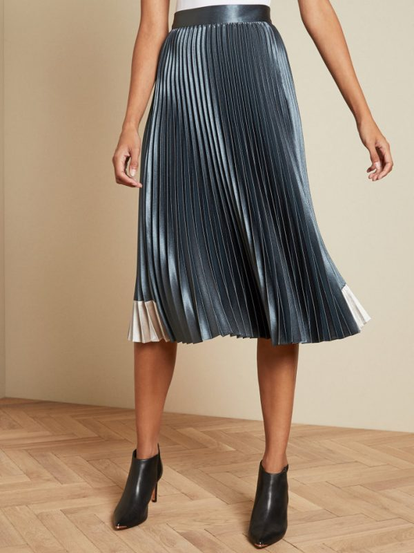 Ted Baker Glaycie Pleated Midi Skirt