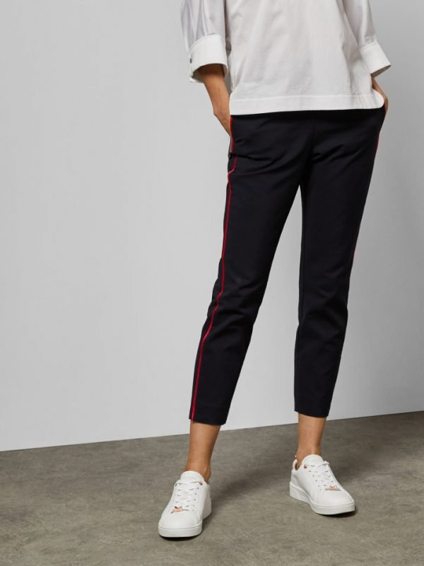 Ted Baker Rayyaa Piped Navy Trousers
