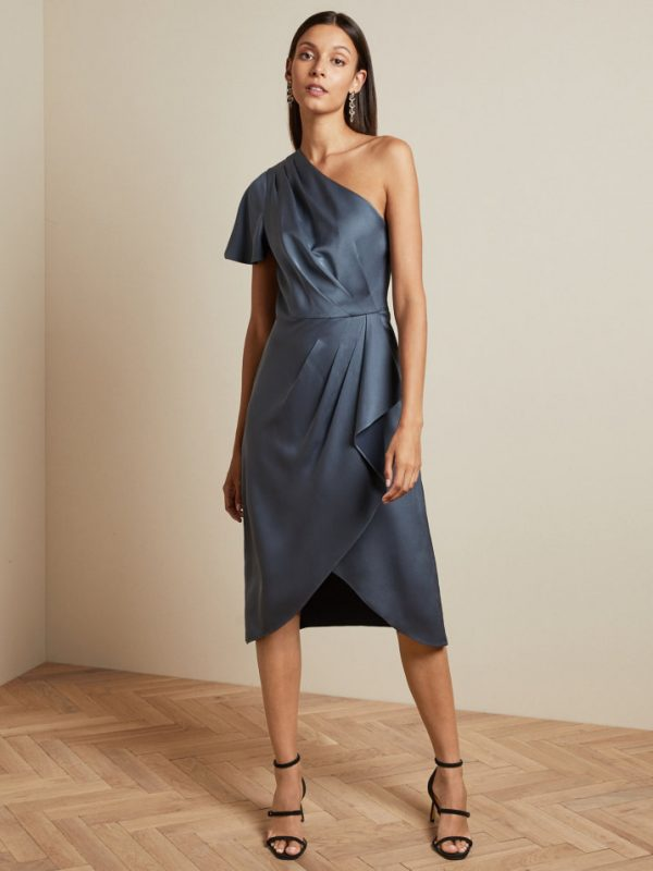 Ted Baker Ridah Dress In Gunmetal