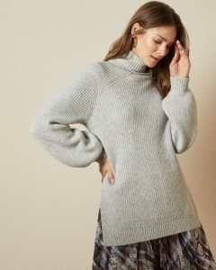 Ted Baker Sylinaa Chunky Grey Knit Jumper