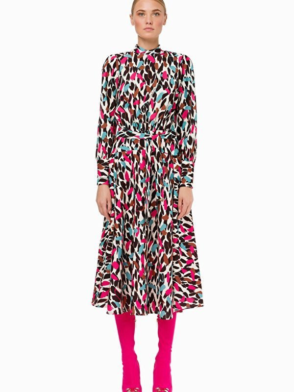 Elisabetta Franchi Multi Print Dress 01
