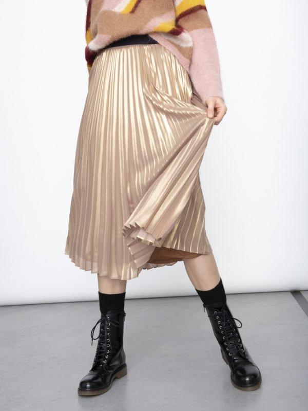 i Blues Gold Pleated Skirt