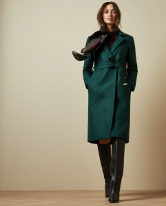 Ted Baker Chelssy Dark Green Coat