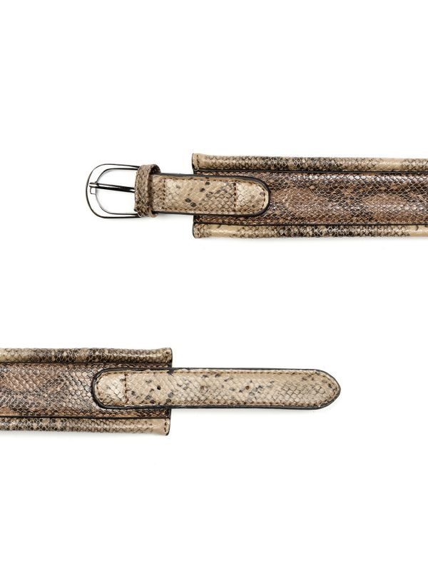 Silvian Heach Belt Brown Python Pattern Belt