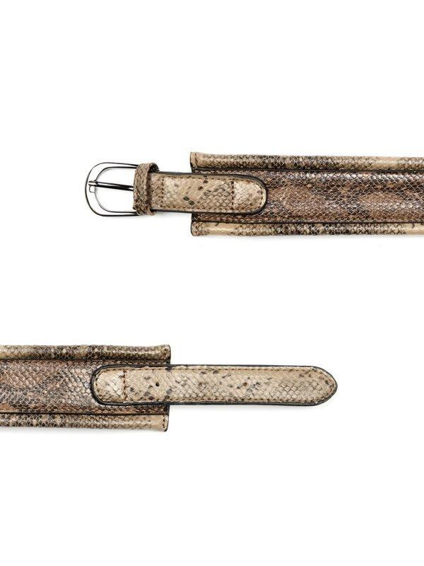 Silvian Heach Belt Brown Python Pattern Belt