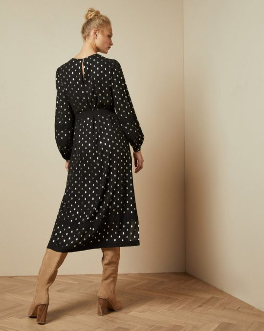 Ted Baker Haylow Black Midi Dress