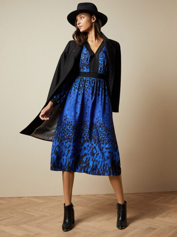 Ted Baker Marema Blue Midi Dress