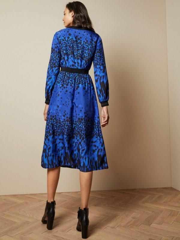 Ted Baker Marema Blue Midi Dress