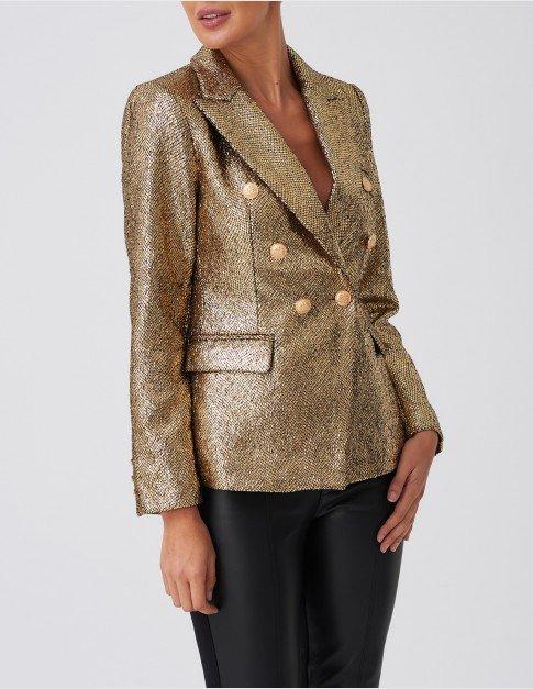 Forever Unique Gold Glitter Blazer