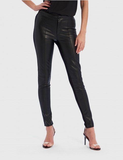 Forever Unique Nell Faux Leather Trousers