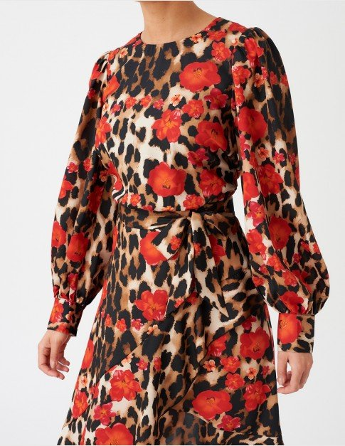 Forever Unique Animal Print Midi Dress