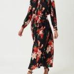 Forever Unique Black Floral Print Maxi Dress