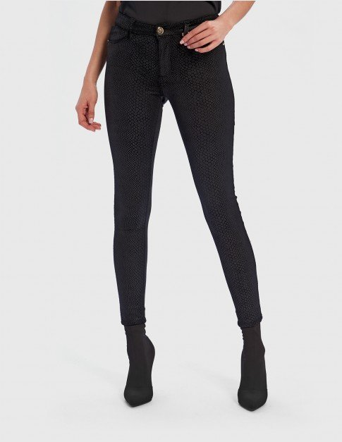 Forever Unique Croc Print Skinny Jeans