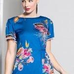 Caroline Kilkenny Arcelia Blue Print Dress