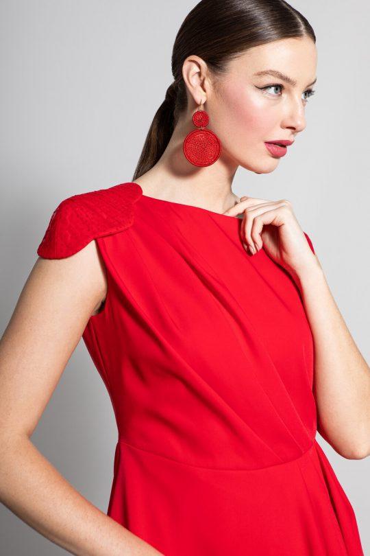 Caroline Kilkenny Paloma Red Dress