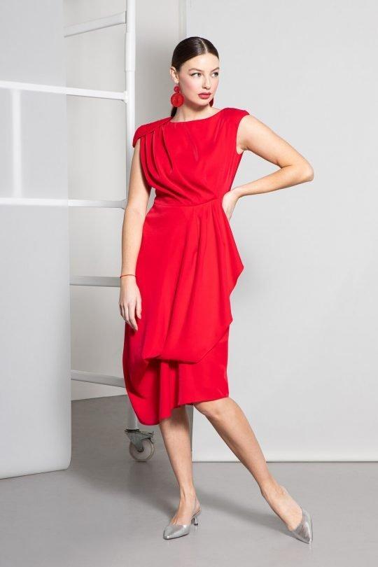 Caroline Kilkenny Marcela Red Dress