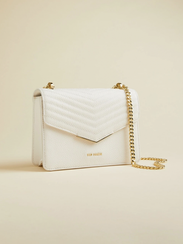 Ted Baker Bonitah Quilted White Bag
