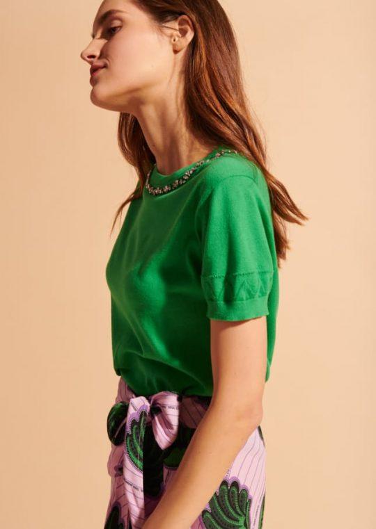 Tara Jarmon Jen Skirt With Printed Seashells