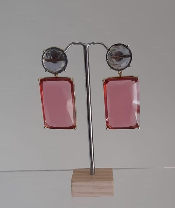Italian Glass Rectangle shaped Earring