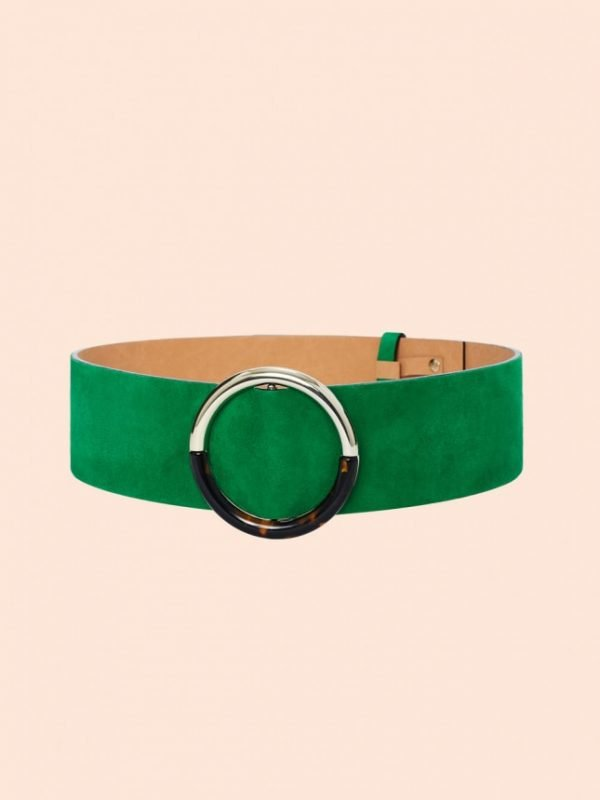 Tara Jarmon Lauren Green Leather Belt
