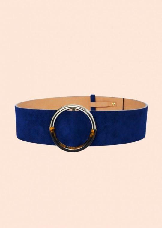 Tara Jarmon Lauren Blue Leather Belt