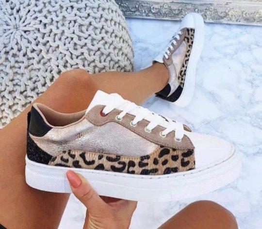 leopard print trainers