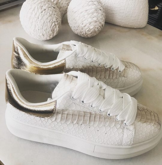 white gold trainers