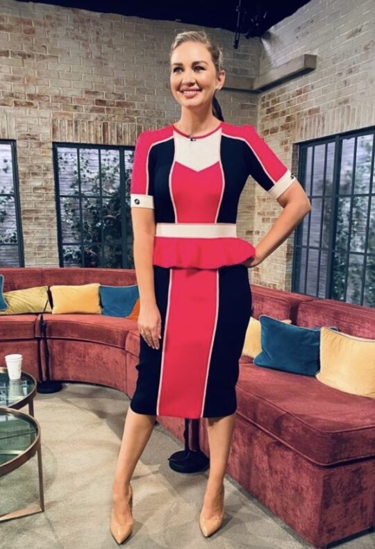 Elisabetta Franchi Pink and Navy Dress