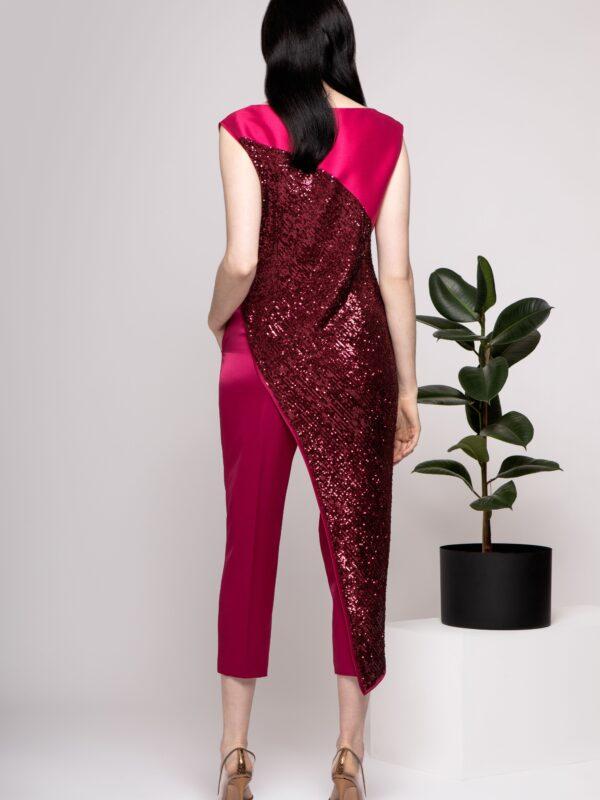 Caroline Kilkenny Zoe Pink Sequin Top