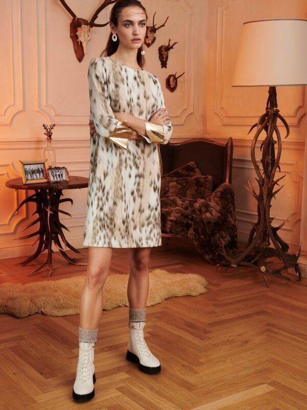 1 One Animal Print Dress