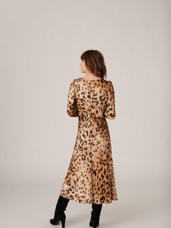 Tara Jarmon Rozica Leopard Print Dress