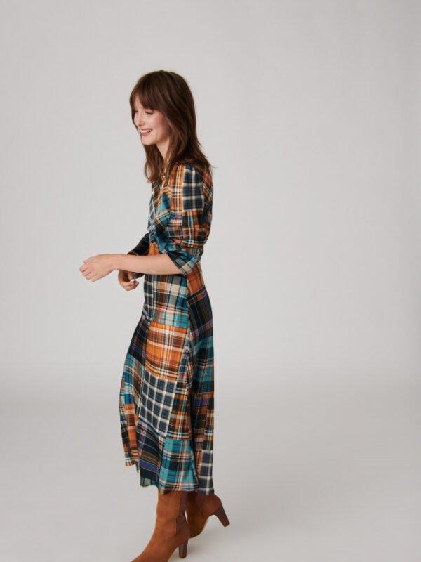 Tara Jarmon Rozica Tartan Print Dress