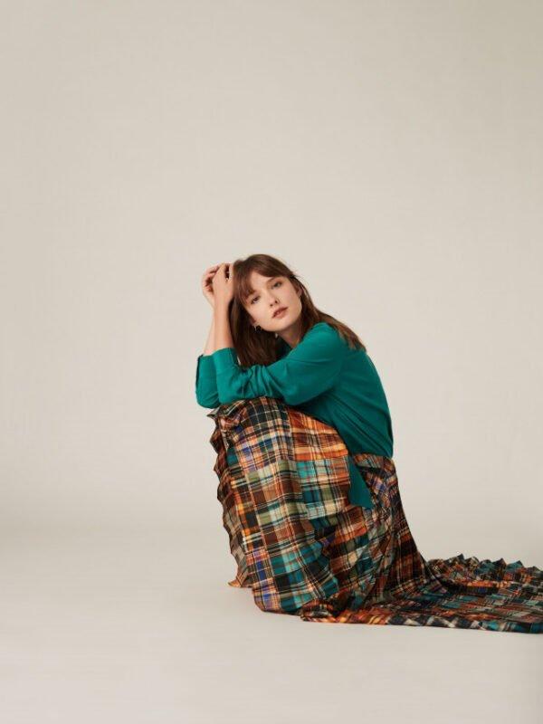 Tara Jarmon Julianne Tartan Print Skirt