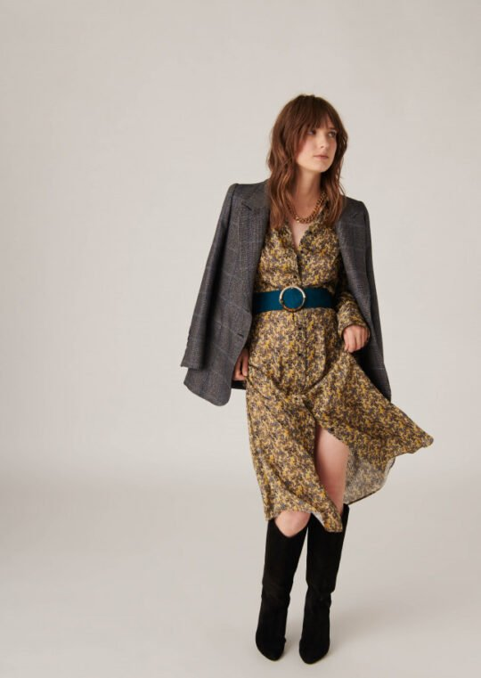 Tara Jarmon Rible Midi Printed Dress