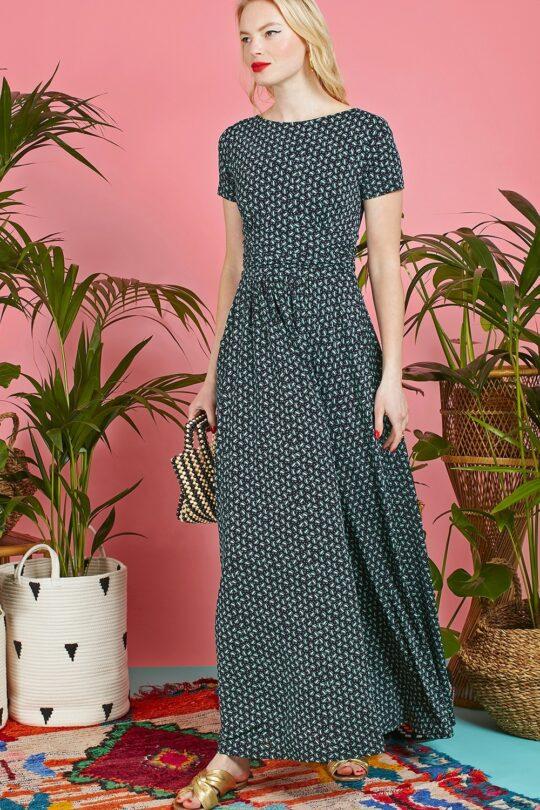 Onjenu Joni Navy Maxi Dress