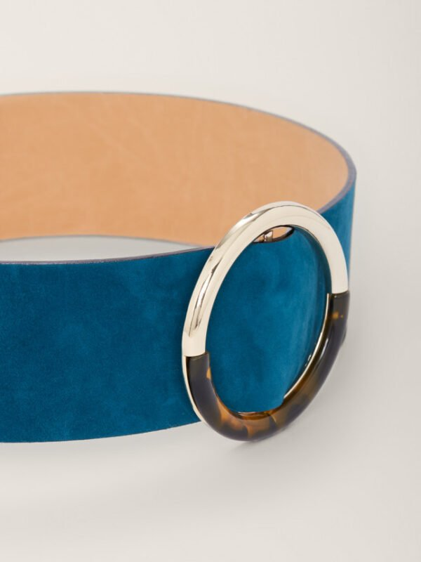 Tara Jarmon Leather Lauren Petrol Blue Belt