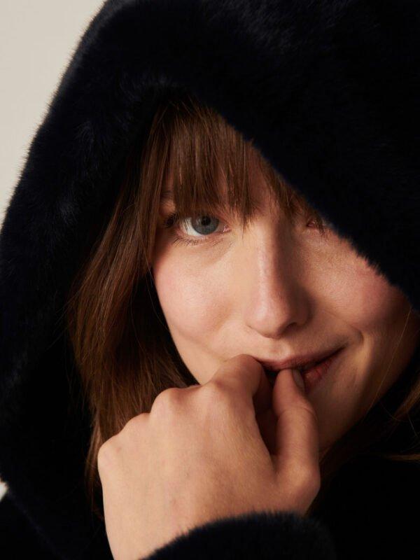 Tara Jarmon Margaret Reversible Faux Fur Coat